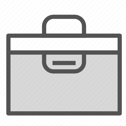 briefcase, case, documents, files, work icon
