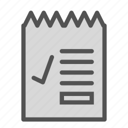check, list, ok, paper, writing icon