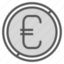 cent, coin, euro, money icon