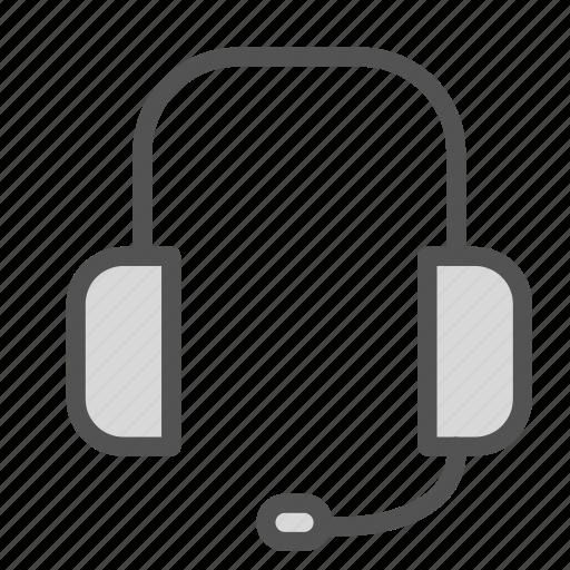 head, microphone, phones, set icon