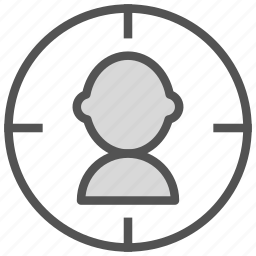 avatar, figure, people, target icon
