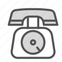 old, phone, telephone, vintage icon