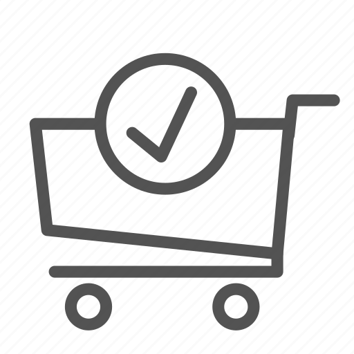 cart, check, ok, shop, store, trolly icon