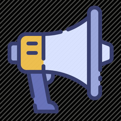 ad, advertising, business, loudspeaker, marketing, megaphone, promotion icon