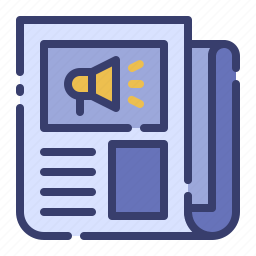 advertising, business, information, marketing, newsletter, newspaper, promotion icon