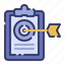 advertising, aim, business, goal, marketing, promotion, target icon