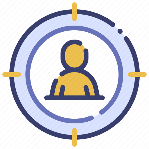 advertising, business, customer, market, marketing, promotion, target audience icon