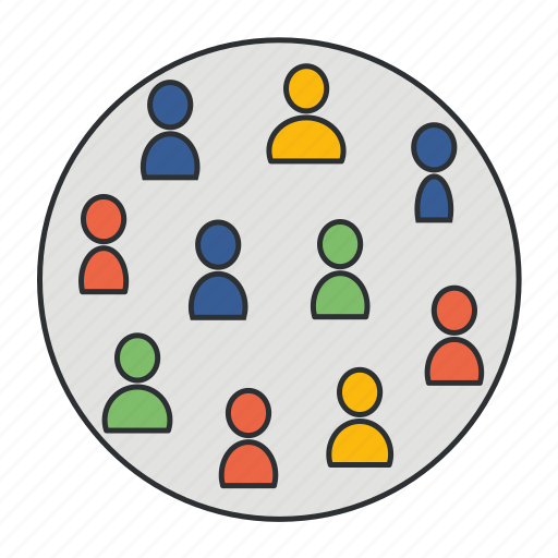 focus group, location, market, mart, potential customers icon