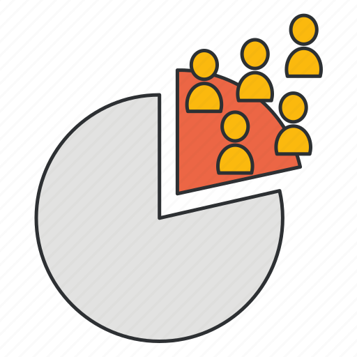 market part, market piece, market segment, part, segment icon