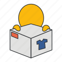 box, commodity, delivery, goods, merchandise, parcel, product icon