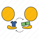exchange, finance, payment, purchase, sale, sell-out, transaction icon