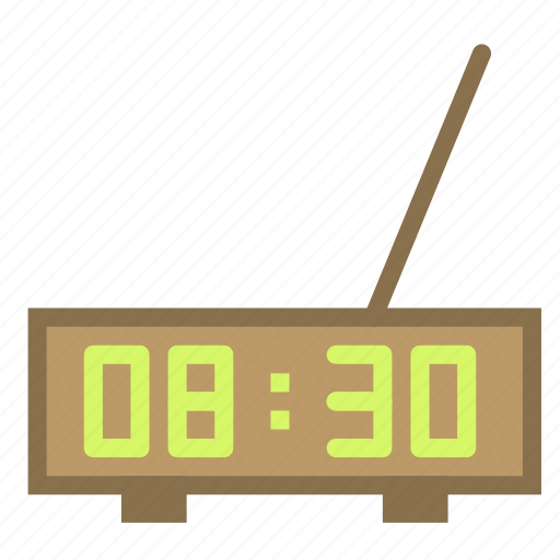 alarm, clock, digital, radio icon