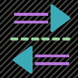 arrow, left, right, two, ways icon