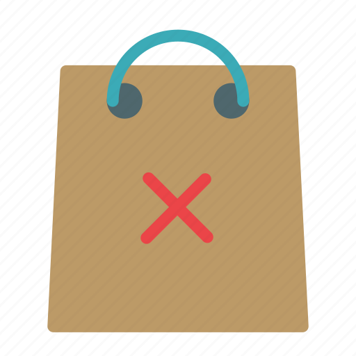bag, cancel, multiply, shop, store icon