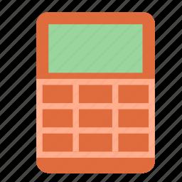 calculator, digital, old, vintage icon