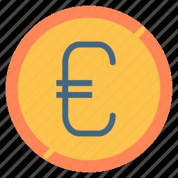 cent, coin, euro, money icon