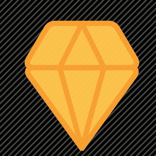 carbon, diamond, precious, stone icon