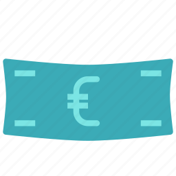 cash, euro, money, paper icon