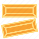 gold, ingot, money, value icon