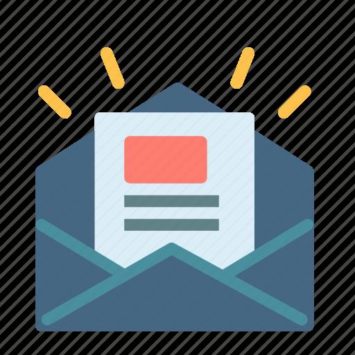 envelope, letter, mail, news icon