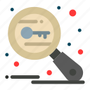 search, security, key, keywords, research icon
