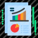 chart, document, pie, report icon