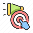 action, announcement, call, call to action, marketing, megaphone, promotion icon