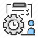 managament, manager, organize, planning, productivity, project, time icon