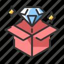 diamond, profit, proposition, quality, success, value, value proposition icon
