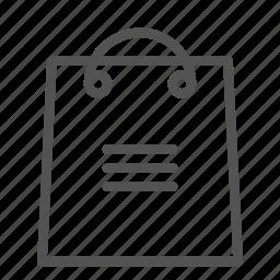 bag, details, menu, options, shop, store icon