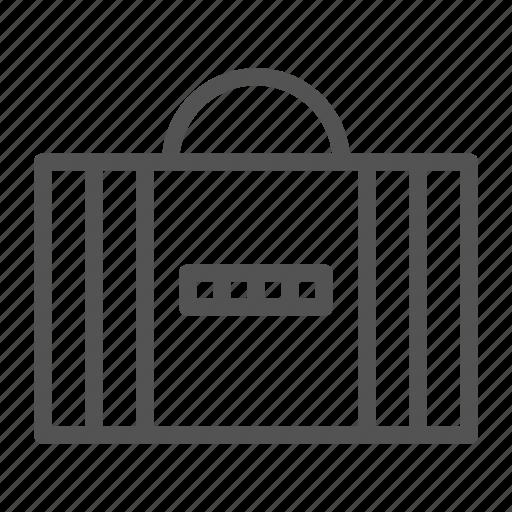 bag, briefcase, code, hand, lock, safe icon