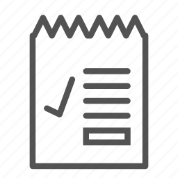 check, list, ok, paper, writing icon