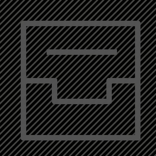 box, document, drawer, file icon