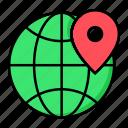 location, marketing, seo icon