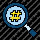 hashtag, tag, keyword, research