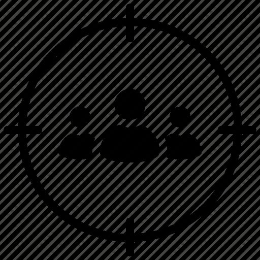 focus group, target audience, target group, target market, user target icon