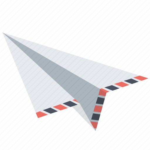 communication, document, letter, mail, message, paperplane, send icon