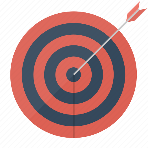 arrow, center, goal, marketing, seo, success, target icon