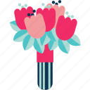 bouquet, bouquets, flower, flower bouquet, flowers icon