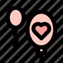 balloon, love, marriage, married, romantic, wedding