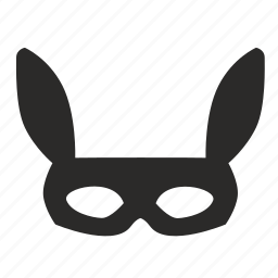 carnaval, man, mask, rabbit icon