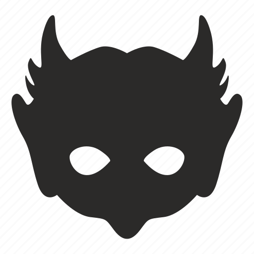 devil, face, hell, hero, mask icon