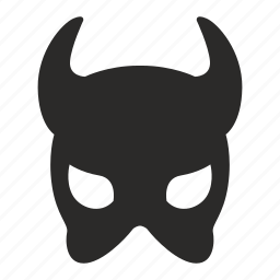 devil, face, hell, mask, woman icon