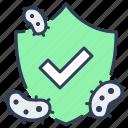 bacteria, bacterial, immunity, protect, shield, virus icon