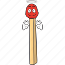 cartoon, emoji, matches, matchstick, smiley icon