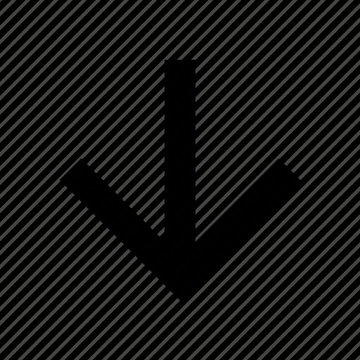 arrow, bottom, down, low icon