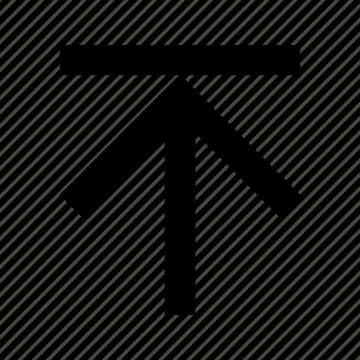 arrow, end, top, up icon