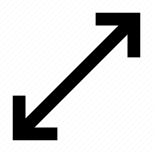 arrow, resize, window icon