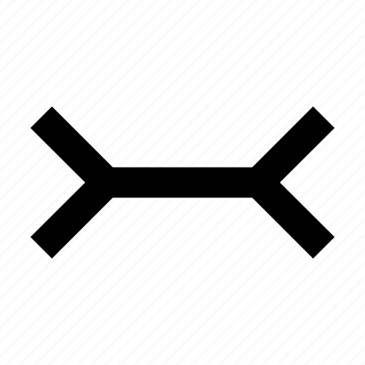 arrow, distance, lenght, size icon