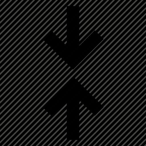 arrow, connect, meet, move, vertical icon
